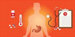 Żołądkowa choroba z medycyną Fotografia Stock