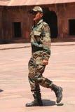 Żołnierz hinduski. Uttar Pradesh, India. obraz stock
