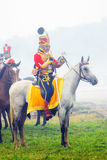 Żołnierz jedzie białego konia Obraz Royalty Free