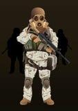 Żołnierz marynarki wojennej foka royalty ilustracja