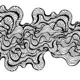 Żołnierz piechoty morskiej macha na białym tle Wodnej fala abstrakcjonistyczny projekt czerń wykłada na białym tle Ręka rysujący  Zdjęcia Stock