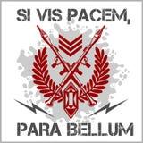 Żołnierz pomyślność - wektorowy emblemat Fotografia Royalty Free