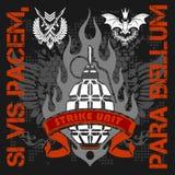 Żołnierz pomyślność - wektorowy emblemat Obrazy Royalty Free