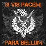 Żołnierz pomyślność - wektorowy emblemat Fotografia Stock