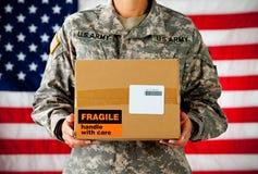 Żołnierz: Pudełko Od domu fotografia stock
