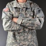 Żołnierz ręki Krzyżować Obrazy Stock