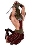 Żołnierz skacze ataka ilustracji