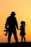 Żołnierz sylwetka Zdjęcia Royalty Free