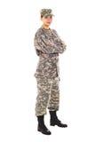Żołnierz w wojskowym uniformu Obraz Royalty Free