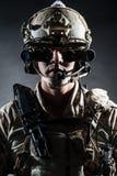 Żołnierza mężczyzna solenna stylowa moda Fotografia Royalty Free