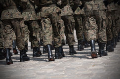Żołnierza marsz w formaci Obraz Royalty Free