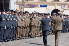 Żołnierza salut Obrazy Royalty Free