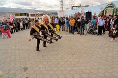 Żołnierze maszerują przy Losem Angeles Fiesta De Los angeles Mama Negr Fotografia Royalty Free