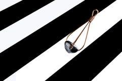 Ołowiany dozownik na czarny i biały lampasa tle Obrazy Royalty Free