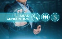 Ołowiany pokolenie Wprowadzać na rynek Reklamowego biznesu technologii Internetowego pojęcie Zdjęcia Stock