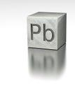 Ołowiany sześcian z Plumbum oceną Zdjęcia Stock