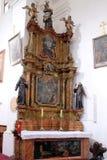 Ołtarz święty Anthony w kościół święty Leonard Noblac w Kotari, Chorwacja Zdjęcie Stock