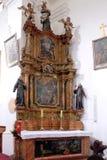 Ołtarz święty Anthony w kościół święty Leonard Noblac w Kotari, Chorwacja Fotografia Royalty Free