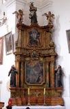 Ołtarz święty Anthony w kościół święty Leonard Noblac w Kotari, Chorwacja Fotografia Stock