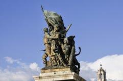 Ołtarz Fatherland, piazza Venezia, Rzym, Włochy Fotografia Royalty Free