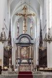 Ołtarz katedra Antwerp Nasz dama zdjęcia stock