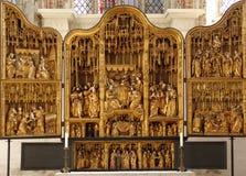 Ołtarz. St. Mary kościół, LÃ ¼ potoczek fotografia stock