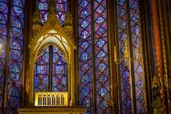 Ołtarz w sainte-Chapelle Zdjęcia Stock