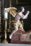 Ołtarzowy anioł, kościół w Zagreb, Chorwacja Obrazy Royalty Free