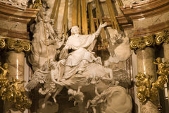 ołtarzowy barokowy szczegół Vienna fotografia stock