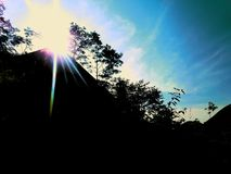 Oślepienia światło słoneczne obrazy royalty free