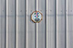 Ośmiobok Kształtujący Pakua lustra obwieszenie na metal ścianie Obrazy Stock