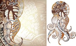 ośmiornica royalty ilustracja