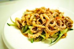 Ośmiornica iść na piechotę Sałatki - Chińskiego stylu denny jedzenie Zdjęcia Royalty Free