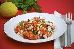 ośmiornicy pietruszki sałatki pomidory Obraz Stock