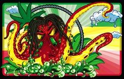 Ośmiornicy rastafari ilustracji