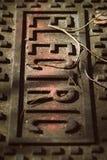 Ośniedziała Elektryczna pokrywa Obraz Stock