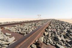 Ośniedziała linia kolejowa Fotografia Royalty Free