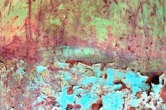 Ośniedziała malująca metal tekstura, stara żelazo powierzchnia z podławym cracke fotografia royalty free