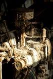 Ośniedziała maszyna w stary przegniłym Fotografia Royalty Free