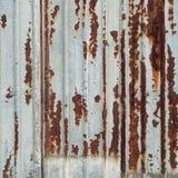 Ośniedziała metal ściana Obraz Stock