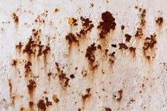 Ośniedziała metal ściany powierzchnia Zdjęcie Stock