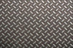 Ośniedziała metal powierzchnia z karbami Brudna stalowa tekstura z miarową strukturą, przemysłowy tło z pustą przestrzenią dla te zdjęcia royalty free