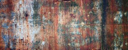 Ośniedziała metal tekstura malująca w różnych kolorach, barwiony żelazny wa Zdjęcia Stock