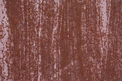ośniedziała metal tekstura Piękna pasiasta naturalna rdza Obrazy Stock