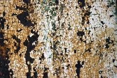 Ośniedziała obieranie farba na metal teksturze zdjęcie royalty free