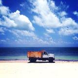 Ośniedziała plaża Fotografia Stock