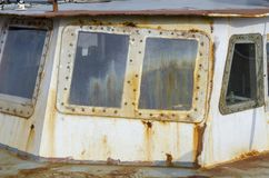 Ośniedziała stara łódź Obraz Stock