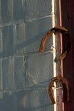 Ośniedziałe podkowy na Rdzewiejących gwoździach Obraz Stock
