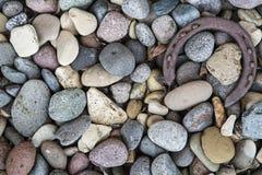 Ośniedziałe podkowy rzeki skały Obrazy Royalty Free