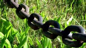 Ośniedziałego czerni obsady żelaza ciężki łańcuch ruch zdjęcie wideo